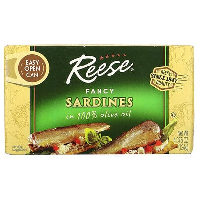 Купить Reese Fancy Sardines in 100% Olive Oil, 4.375 oz (124 g)