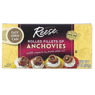 Купить Reese Rolled Fillets of Anchovies, 2 oz (56 g)