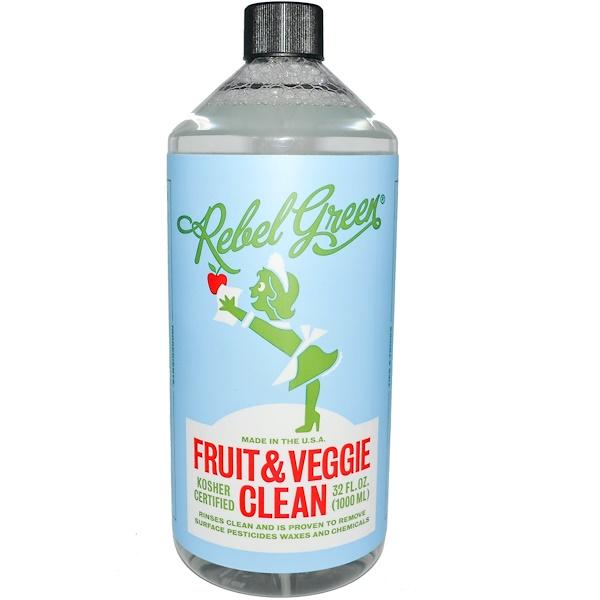 Rebel Green, Fruit & Veggie Clean, 32 fl oz (1000 ml) (Discontinued Item)