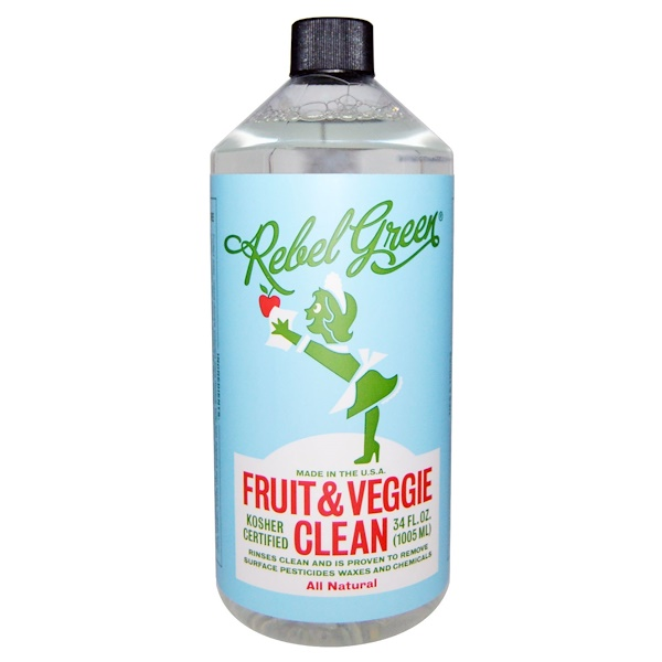 Rebel Green, Fruit & Veggie Clean, All Natural, 34 fl oz (1,005 ml)