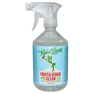 Rebel Green, Средство для очищения фруктов и овощей, 17 жидких унций (503 мл)