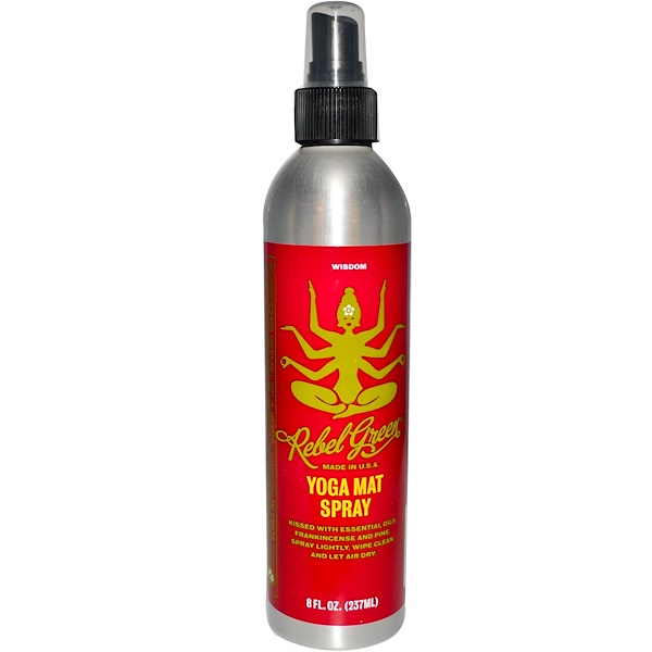 Rebel Green, Yoga Mat Spray, Wisdom, 8 fl oz (237 ml) (Discontinued Item)