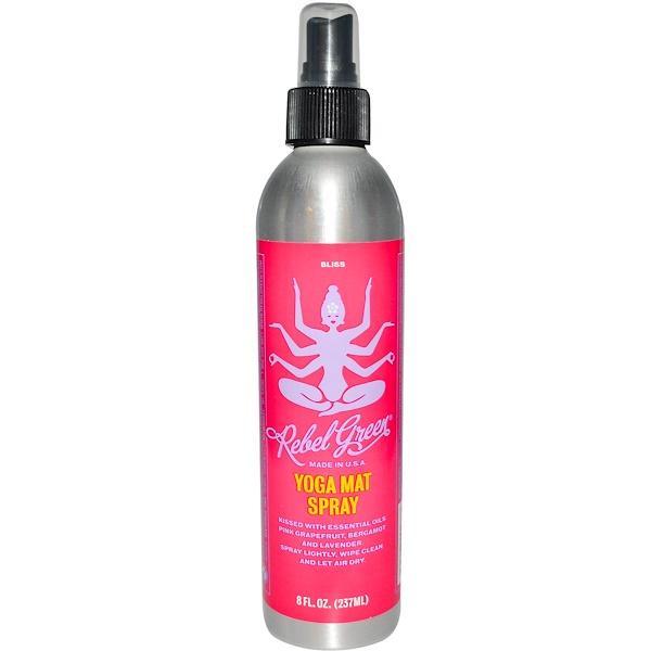 Rebel Green, Yoga Mat Spray, Bliss, 8 fl oz (237 ml) (Discontinued Item)