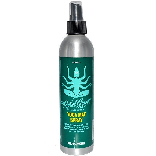 Rebel Green, Yoga Mat Spray, Clarity, 8 fl oz (237 ml) (Discontinued Item)