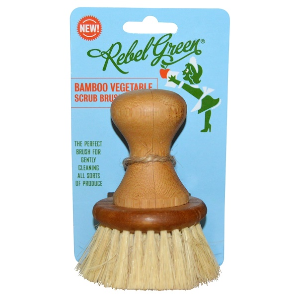 Rebel Green, Bamboo Vegetable Scrub Brush (Discontinued Item)