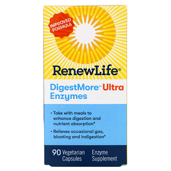 Renew Life, DigestMore Ultra Enzymes, 90 Vegetarian Capsules