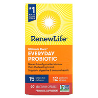 Renew Life, Ultimate Flora Everyday Probiotic, 15 Billion CFU, 60 Vegetarian Capsules