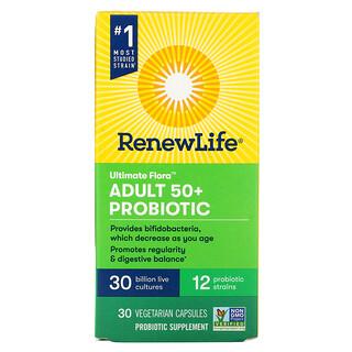 Renew Life, Ultimate Flora,  Adult 50+ Probiotic, 30 Billion Live Cultures, 30 Vegetarian Capsules