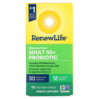 Renew Life, Ultimate Flora Adult 50+ Probiotic, 30 Billion CFU, 90 Vegetarian Capsules