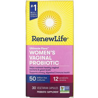 Renew Life, Ultimate Flora, Women's Vaginal Probiotic, 50 Billion, 30 Vegetarian Capsules