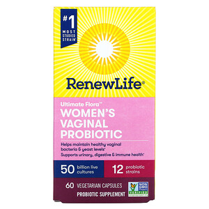Renew Life, Ultimate Flora Women's Vaginal Probiotic, 50 Billion CFU, 60 Vegetarian Capsules
