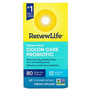 Renew Life, Ultimate Flora Colon Care Probiotic, 80 Billion CFU, 60 Vegetarian Capsules