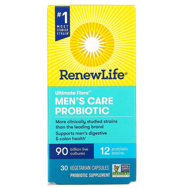 Ultimate Flora, Men's Care Probiotic, 90 Billion Live Cultures, 30 Vegetarian Capsules