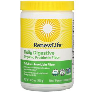 Renew Life, Daily Digestive Organic Prebiotic Fiber, 8.5 oz (240 g)