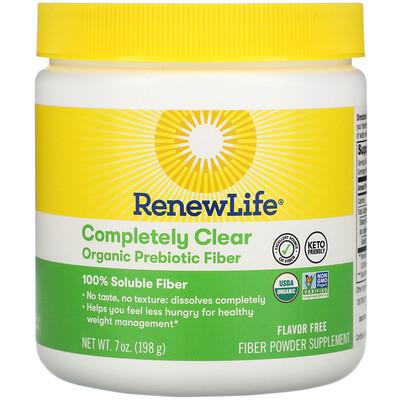 Купить Renew Life Completely Clear Organic Prebiotic Fiber, 7 oz (198 g)