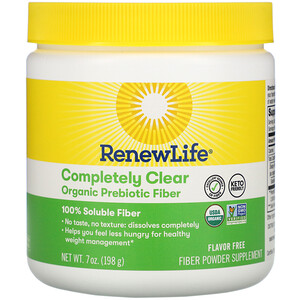 Renew Life, Completely Clear Organic Prebiotic Fiber, 7 oz (198 g)