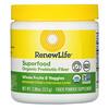 Renew Life, Superfood Organic Prebiotic Fiber, Refreshing Citrus, 3.98 oz (113 g)