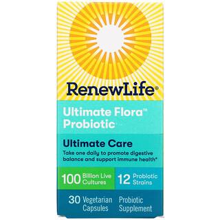 Renew Life, Ultimate Care, Ultimate Flora Probiotic, 100 Billion Live Cultures, 30 Vegetarian Capsules