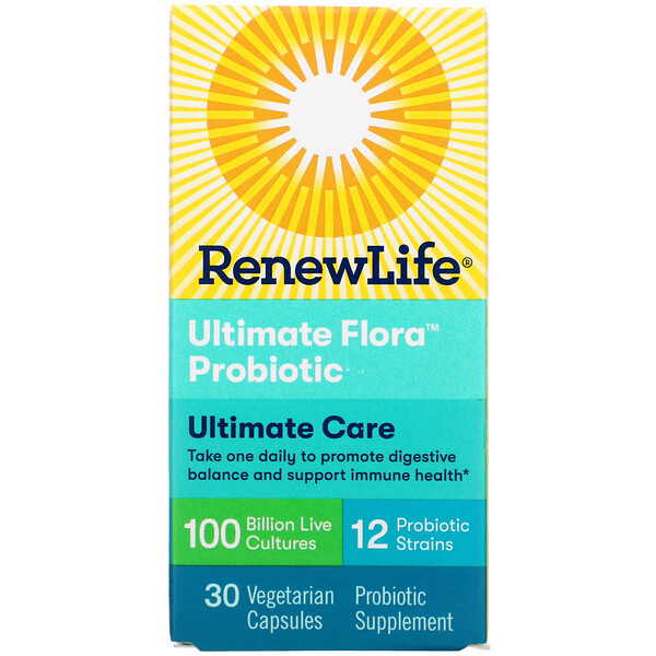 Ultimate Care, Ultimate Flora Probiotic, 100 Billion Live Cultures, 30 Vegetarian Capsules
