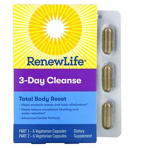 Renew Life, 3-Day Cleanse, Total Body Reset, 12 Vegetarian Capsules
