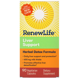 Renew Life, 肝功能健康草本清體素食膠囊,90 粒裝