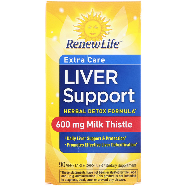 Extra Care, Liver Support, Herbal Detox Formula, 90 Vegetable Capsules