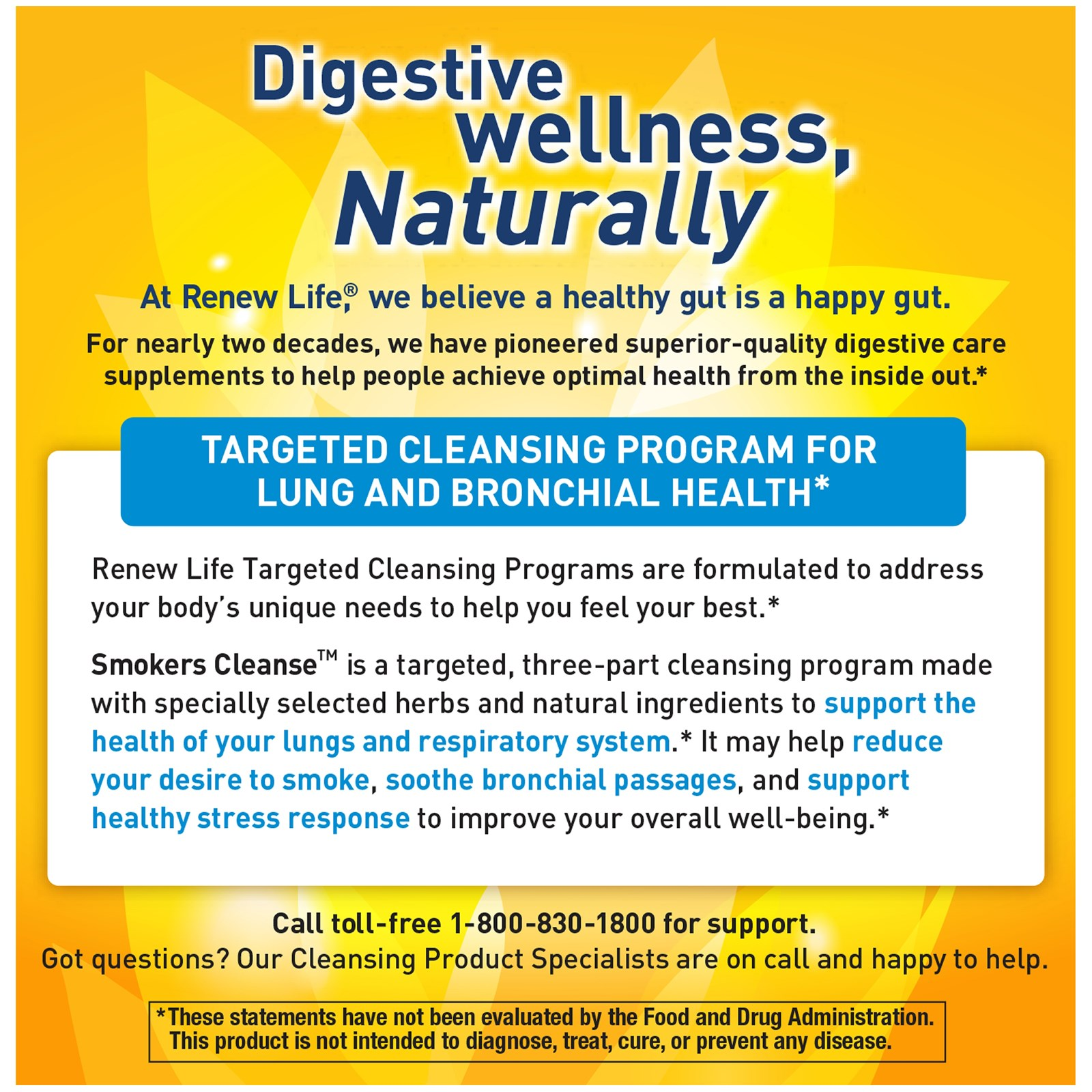 Renew Life, Targeted, Smokers Cleanse, Lung Support Formula