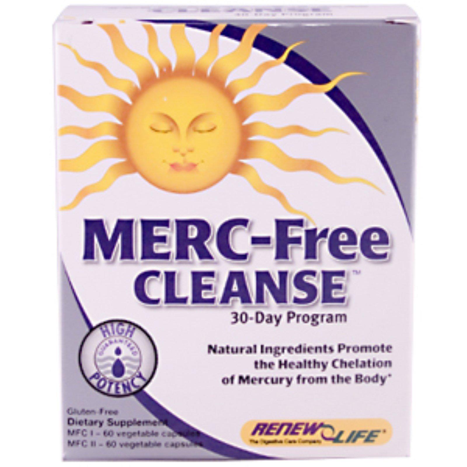 Renew Life, Merc-Free Cleanse, 30-Day Program (Discontinued Item)