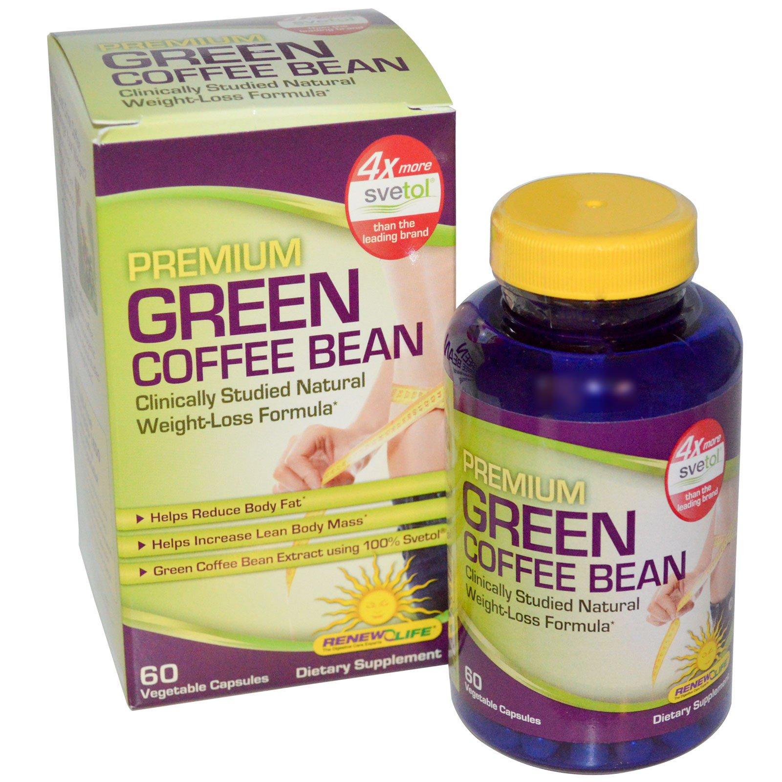 extracto de grano de café verde puro 60 cápsulas 800 mg