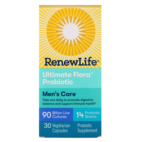 Men's Care, Ultimate Flora Probiotic, 90 Billion Live Cultures, 30 Vegetarian Capsules