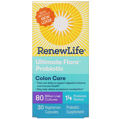 Renew Life, Colon Care, Ultimate Flora Probiotic, 80 Billion Live Cultures, 30 Vegetarian Capsules
