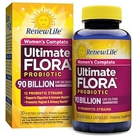 Women's Complete, Ultimate Flora Probiotic, 90 миллиардов живых бактерий, 30 вегетарианских капсул - фото