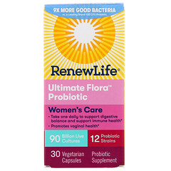 Renew Life, لرعاية السيدات، بروبيوتك Ultimate Flora، 90 مليار بيئة حيوية نشطة، 30 كبسولة نباتية
