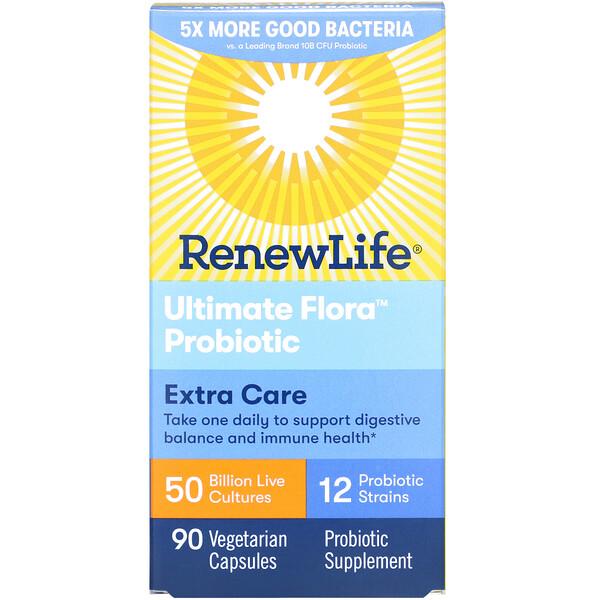 Extra Care, Ultimate Flora Probiotic, 50 Billion, 90 Vegetarian Capsules