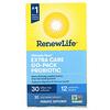 Renew Life, Ultimate Flora, Extra Care Go-Pack Probiotic, 30 Billion Live Cultures, 30 Vegetarian Capsules