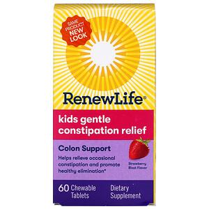 Ренев Лифе, Kids Gentle Constipation Relief, Strawberry Blast Flavor, 60 Chewable Tablets отзывы