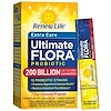 Renew Life, Extra Care, Ultimate Flora Probiotic, 200 Billion Live Cultures, 7 Packets, 0.86 oz (24.5 g)