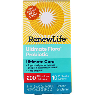 Renew Life, Ultimate Flora Probiotic, особая забота, 200 млрд, 7 пакетов, 0,86 унц (24,5 г)