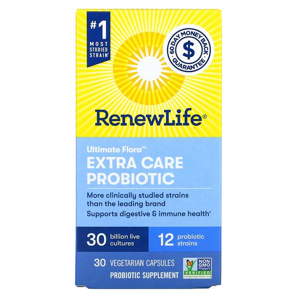 Ultimate Flora Extra Care Probiotic, 30 Billion CFU, 30 Vegetarian Capsules