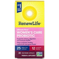 Renew Life, Ultimate Flora, Women's Care Probiotic, 25 Billion Live Cultures, 30 Vegetarian Capsules