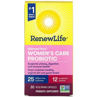 Renew Life, Ultimate Flora, Women's Care Probiotic, 25 Billion Live Cultures, 30 Vegetarian Capsules