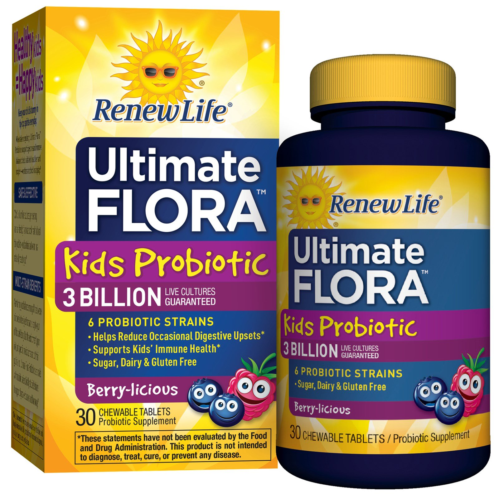 Renew Life Ultimate Flora Kids Probiotic Berry Licious