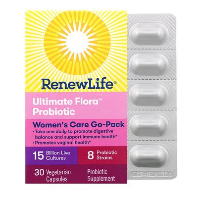 Купить Renew Life Комплексная добавка для женщин, пробиотик Ultimate Flora, 15млрд живых культур, 30вегетарианских капсул