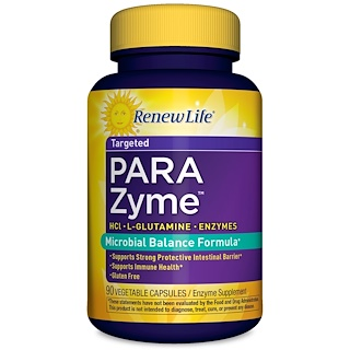 Renew Life, Targeted, ParaZyme, 90 Vegetable Capsules