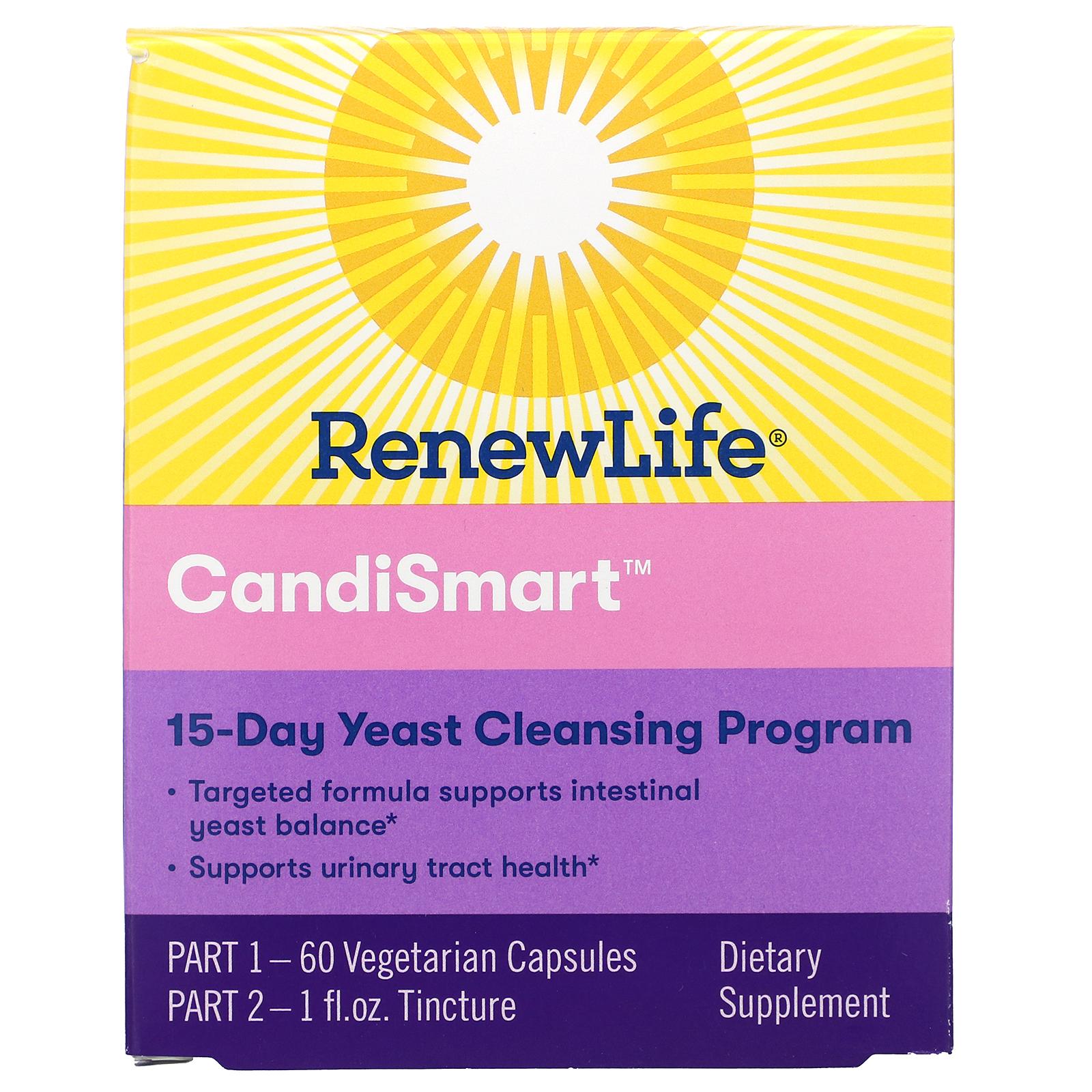 Renew Life Candismart 15 Day Yeast Cleansing Program 2 Part Program Iherb