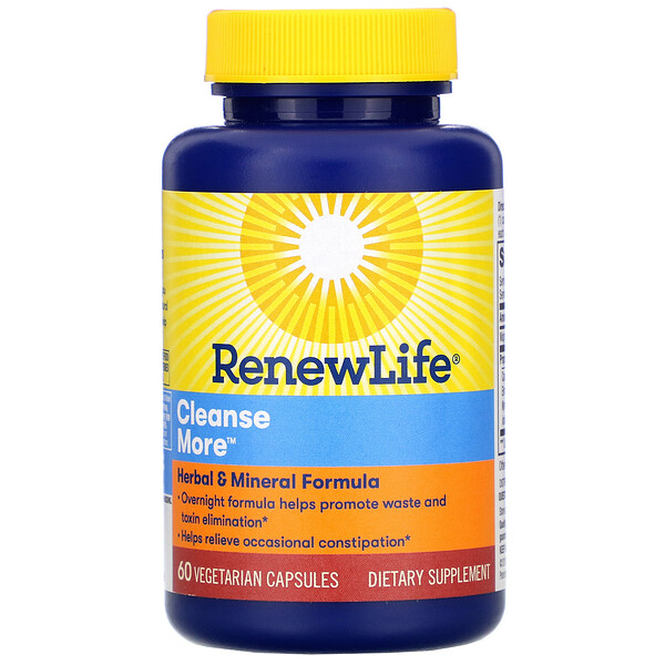 Renew Life, Cleanse More, 60 cápsulas vegetales