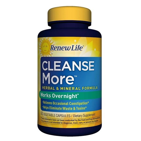 Renew Life, Cleanse More, 60 Vegetable Capsules