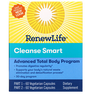 Renew Life, Cleanse Smart, 2 Bottles, 60 Vegetarian Capsules Each