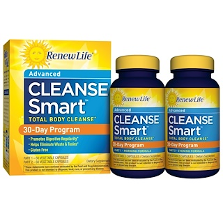 Renew Life, Advanced Cleanse Smart, 2 Bottles, 60 Vegetable Capsules Each