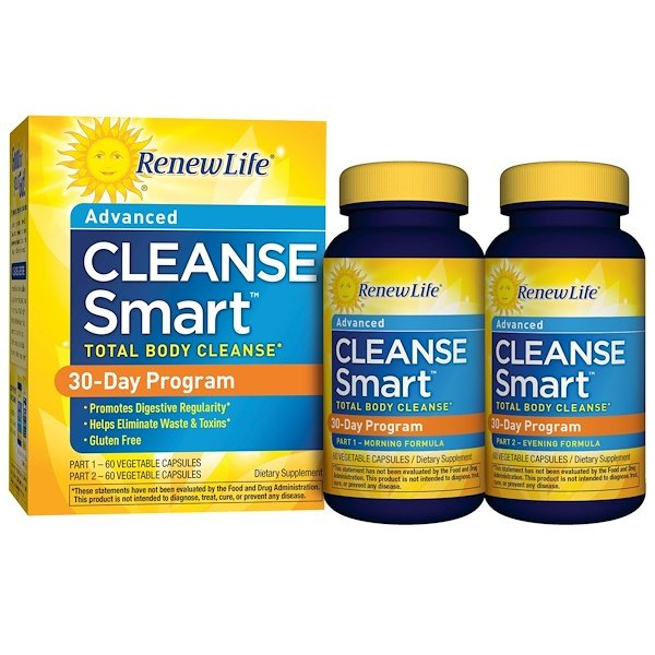 Advanced Cleanse Smart, 2 Bottles, 60 Vegetable Capsules Each